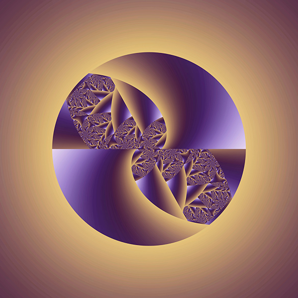 Fractal, art, artwork, abstract, digital, fine, composition, purple, brown, circle, organic